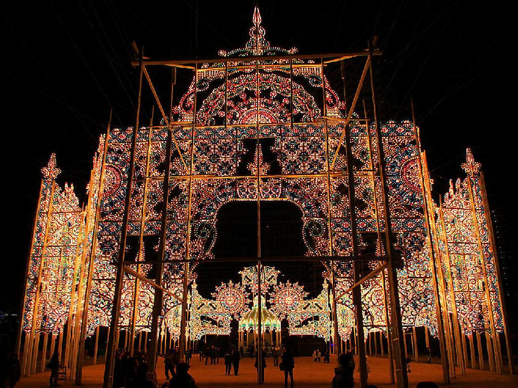 神戸ルミナリエ2012試験点灯