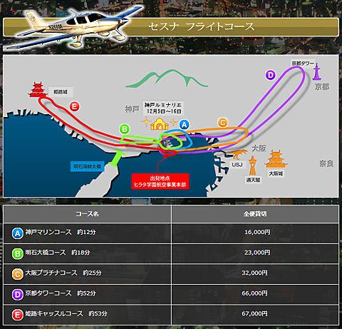 神戸ルミナリエ&クリスマス遊覧飛行