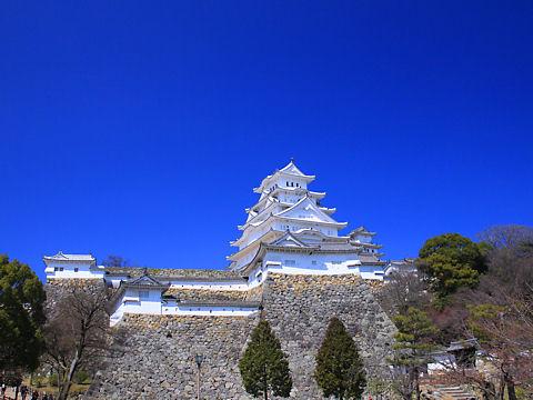 姫路城の写真 / 姫路市立動物園から撮影