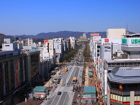 姫路城の写真 / piole HIMEJI[ピオレ姫路]屋上広場・姫路城展望デッキから撮影