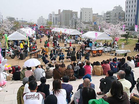 神戸市 生田川さくらまつり・生田川の花見イベント