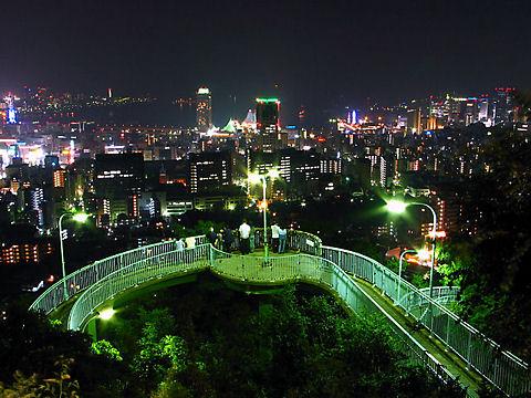 ビーナスブリッジから見る神戸の夜景