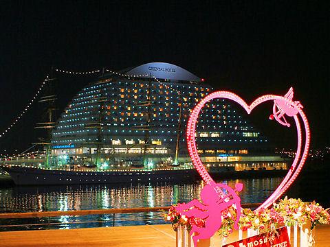 神戸メリケンパークオリエンタルホテルの夜景