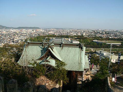 生石神社と高砂市~加古川市の風景/高砂市
