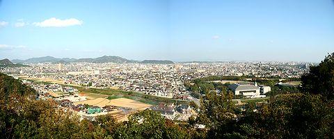 高砂市~加古川市の風景・播磨灘~淡路島~明石海峡大橋が見えます